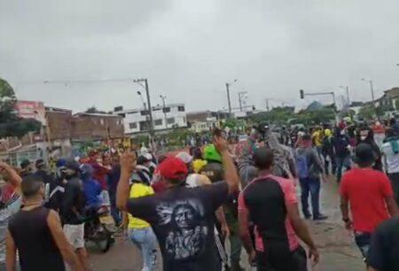 Marchas con policía