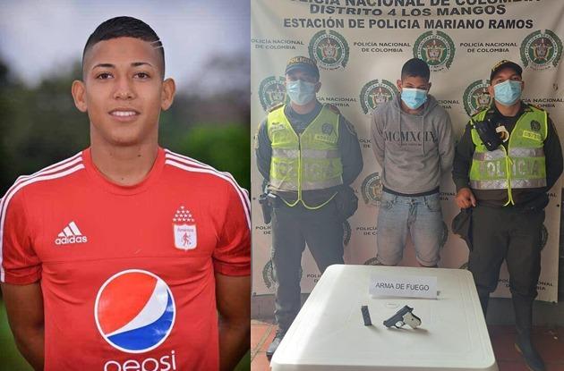 Policía de Cali confirma la captura de Juan Diego Nieva, exjugador del América de Cali