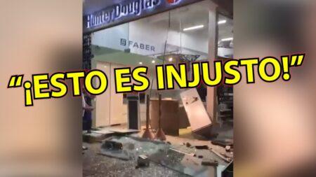En video: ¡Caos total en Barranquilla! Comercios son atacados en toda la ciudad